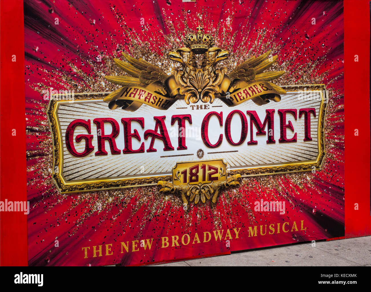 The Great Comet of 1812 Broadway theater marquee NYC Stock Photo