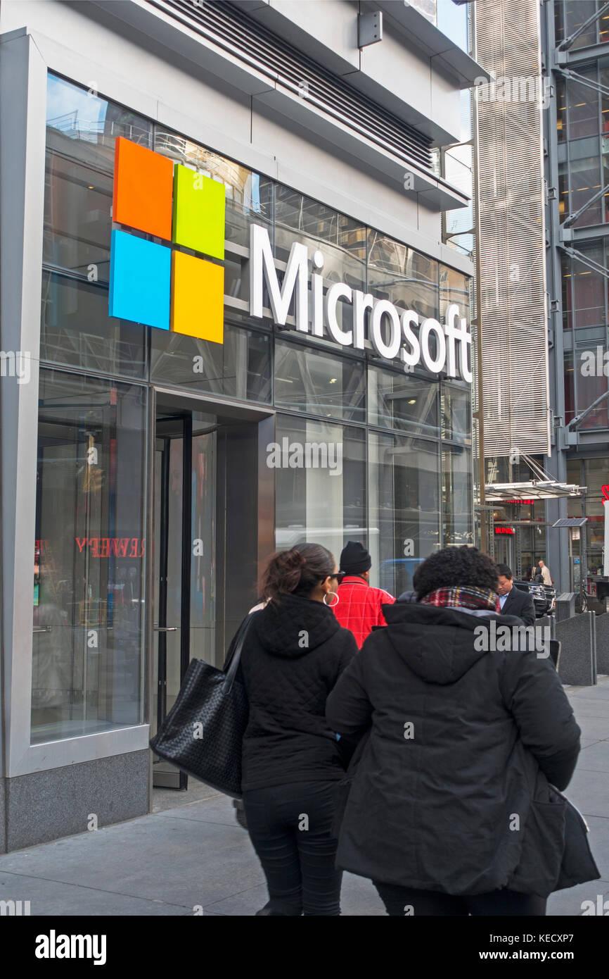 Microsoft store fifth avenue NYC Stock Photo