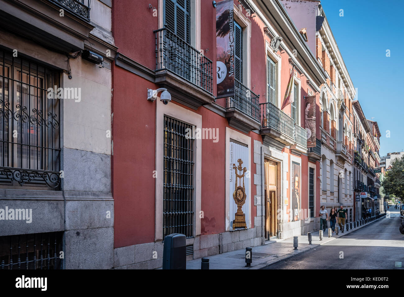 Madrid, Spain - October 14, 2017: Outdoor view of Museum of Romanticism of Madrid. It exhibits items of the romantic - Stock Image