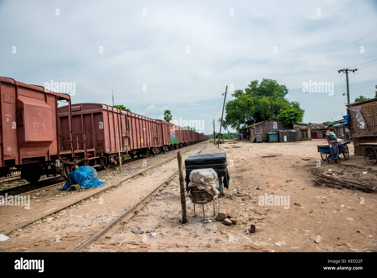 Rail station - Stock Image