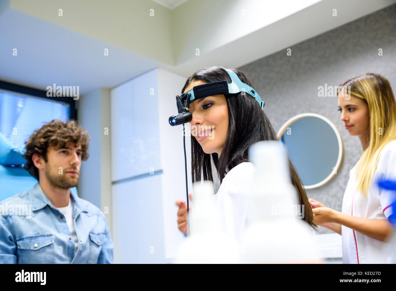 A Female Ear Nose Throat Aka Ent Specialist Doctor Preparing For A Stock Photo Alamy