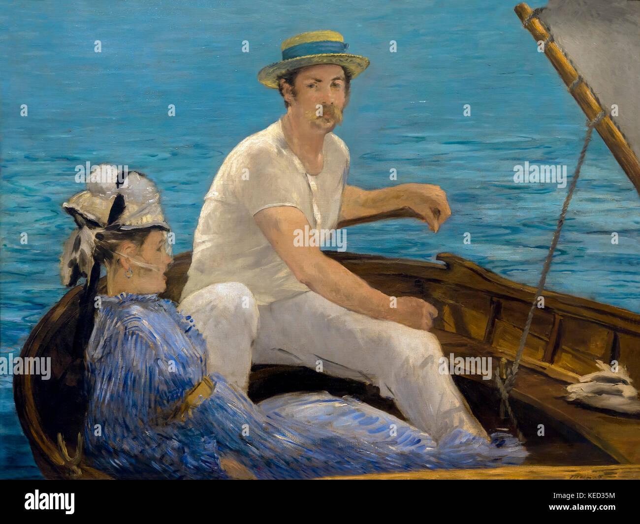 Boating, Edouard Manet, 1874, Metropolitan Museum of Art, Manhattan, New York City, USA, North America - Stock Image