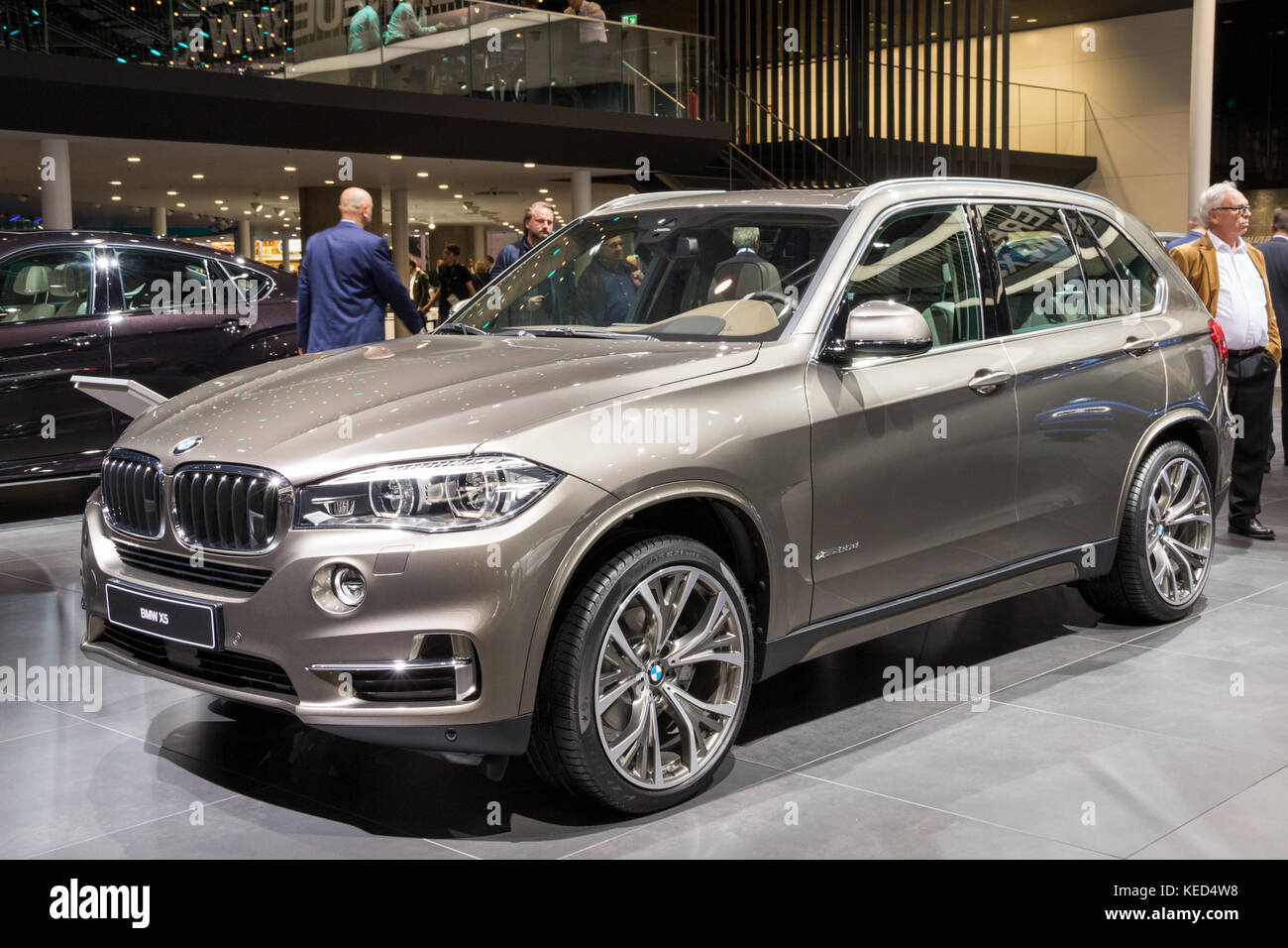 FRANKFURT, GERMANY - SEP 12, 2017: BMW X5 showcased at the Frankfurt IAA Motor Show 2017. - Stock Image