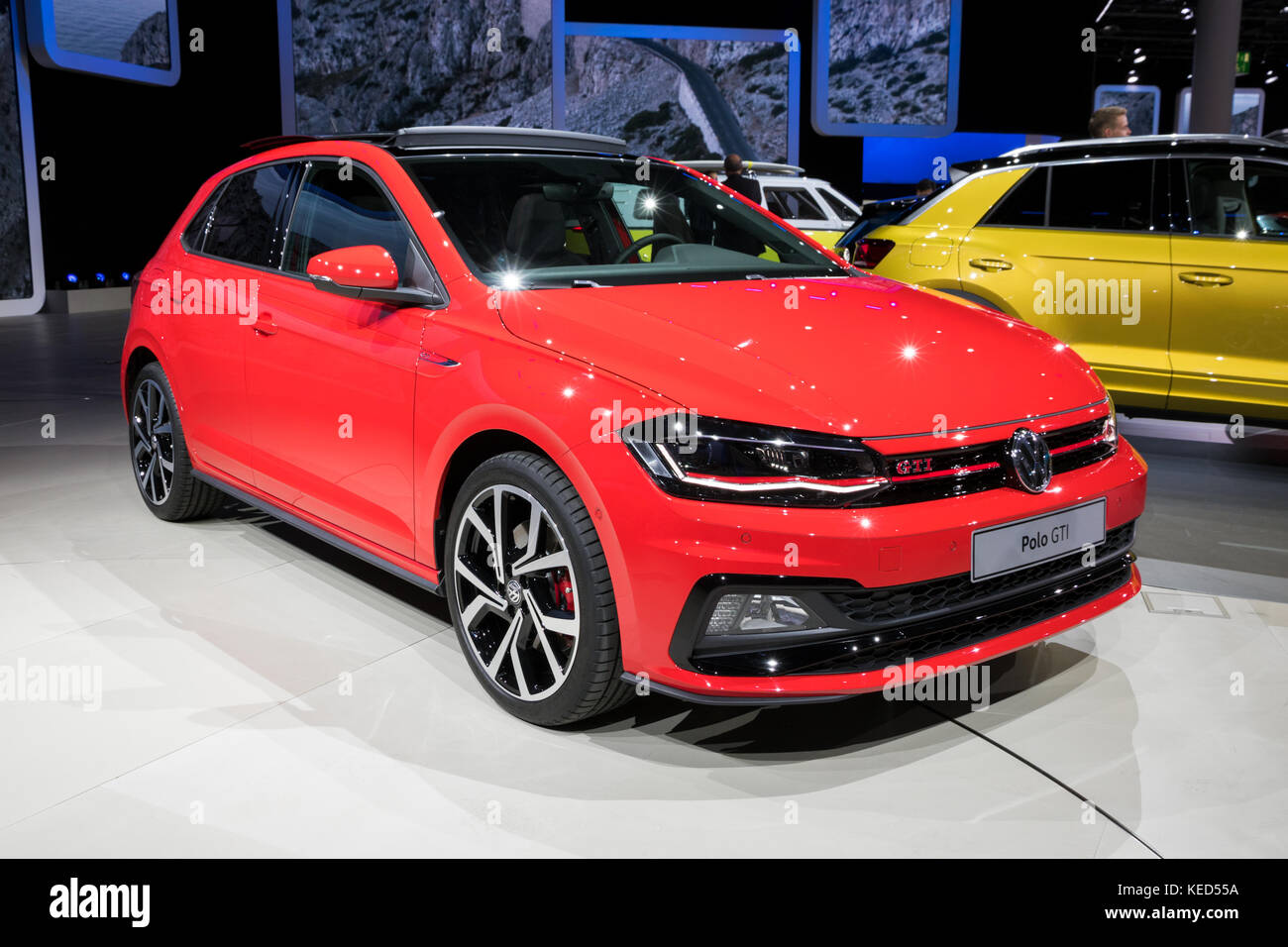 Frankfurt germany sep 12 2017 new 2018 volkswagen for R line pack esterno polo