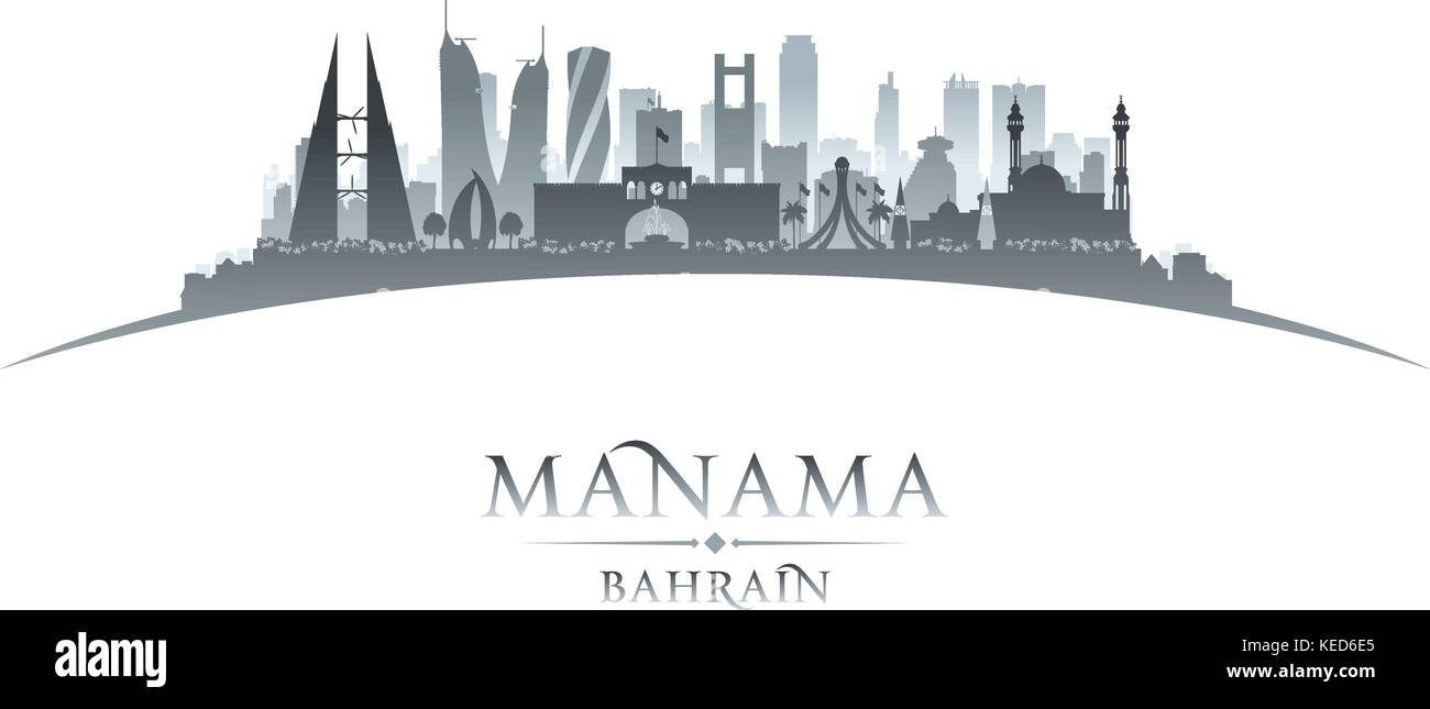 ca478c00de26 Manama Bahrain city skyline silhouette. Vector illustration - Stock Vector