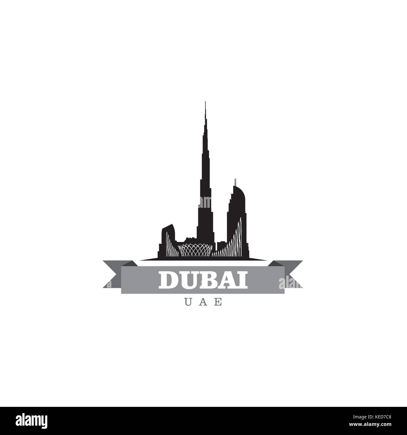 Dubai skyline cut out stock images pictures alamy dubai uae city symbol vector illustration stock image buycottarizona Gallery