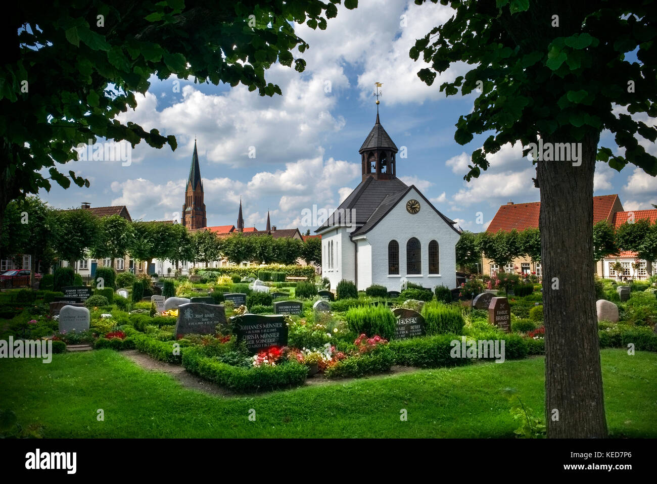 The island of the fishermenThe fishing settlement Holm Schleswig Germany - Stock Image
