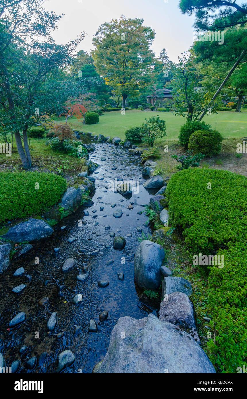 Kenroku-en Garden, Kanazawa Japan - Stock Image