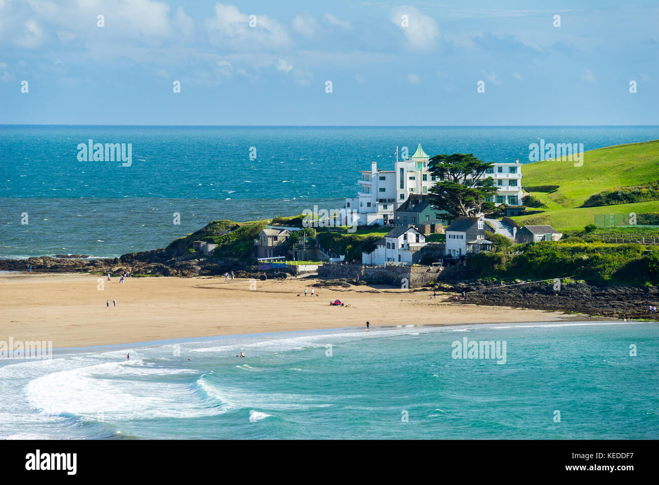 Overlooking Burgh Island South Hams Devon England UK Europe - Stock Image
