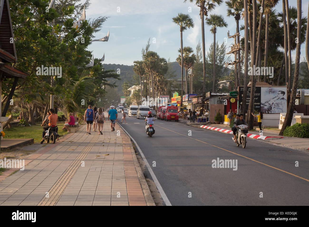 Karon Beach road, Phuket Island - Stock Image