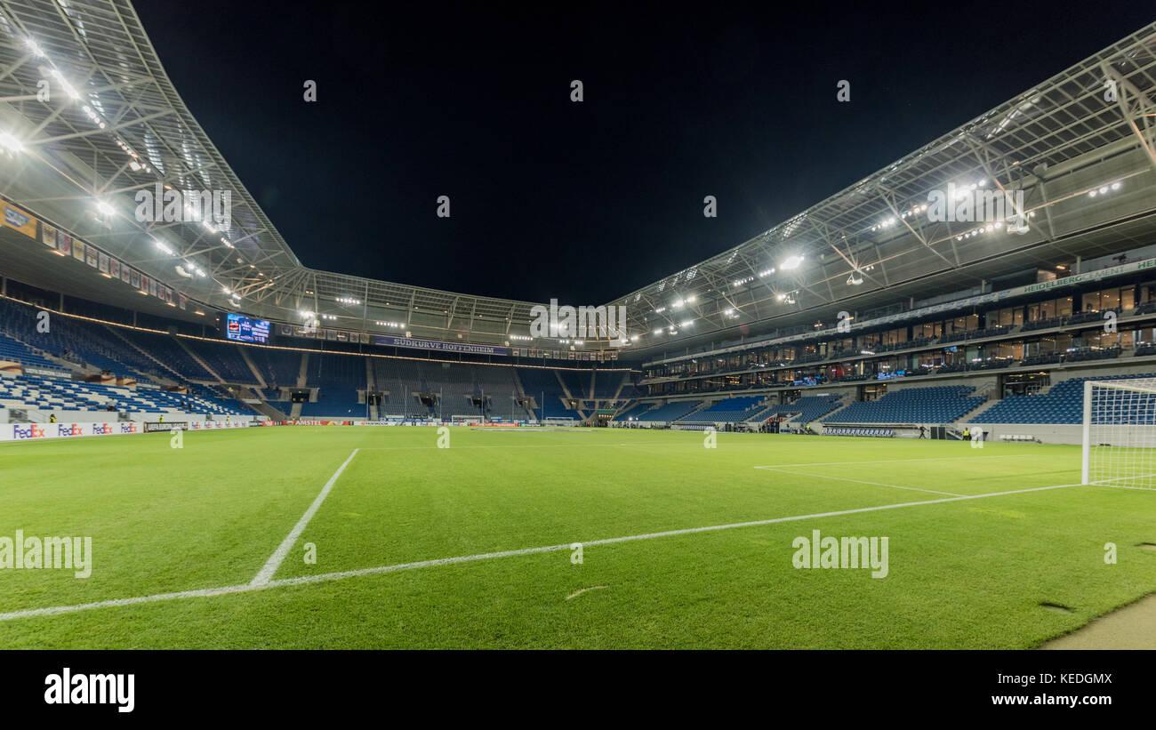Sport, Deutschland, Badenwürtemberg, Sinsheim, Rhein-Neckar-Arena, October 19. Stadion Innenraum vor dem Spiel - Stock Image