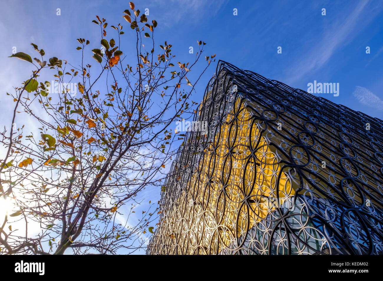 View of library of Birmingham at  Centenary Square - Stock Image