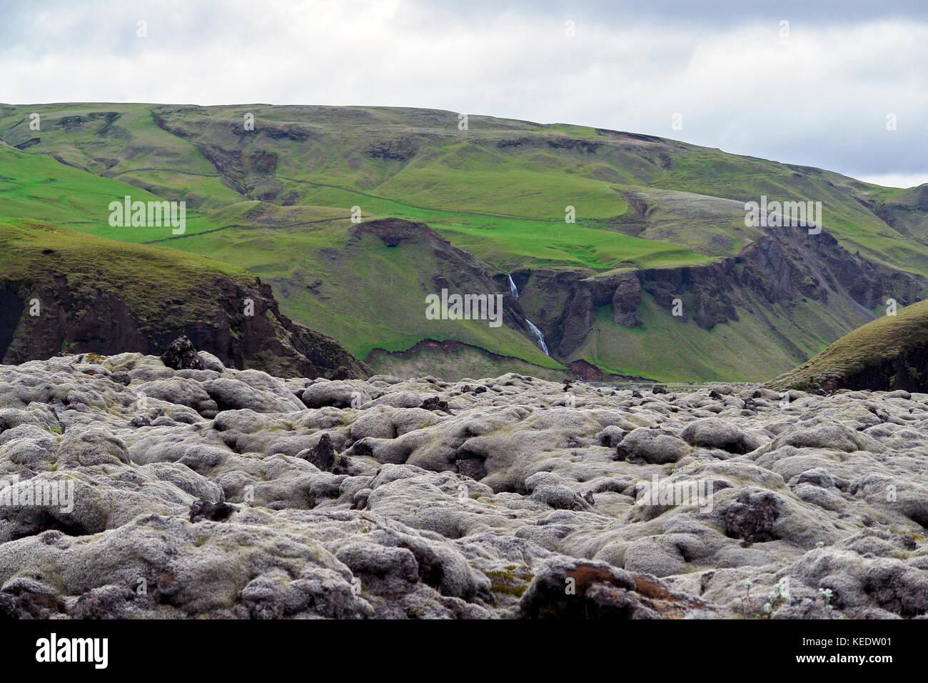 Eldhraun Lava Field - Southern Iceland - Stock Image