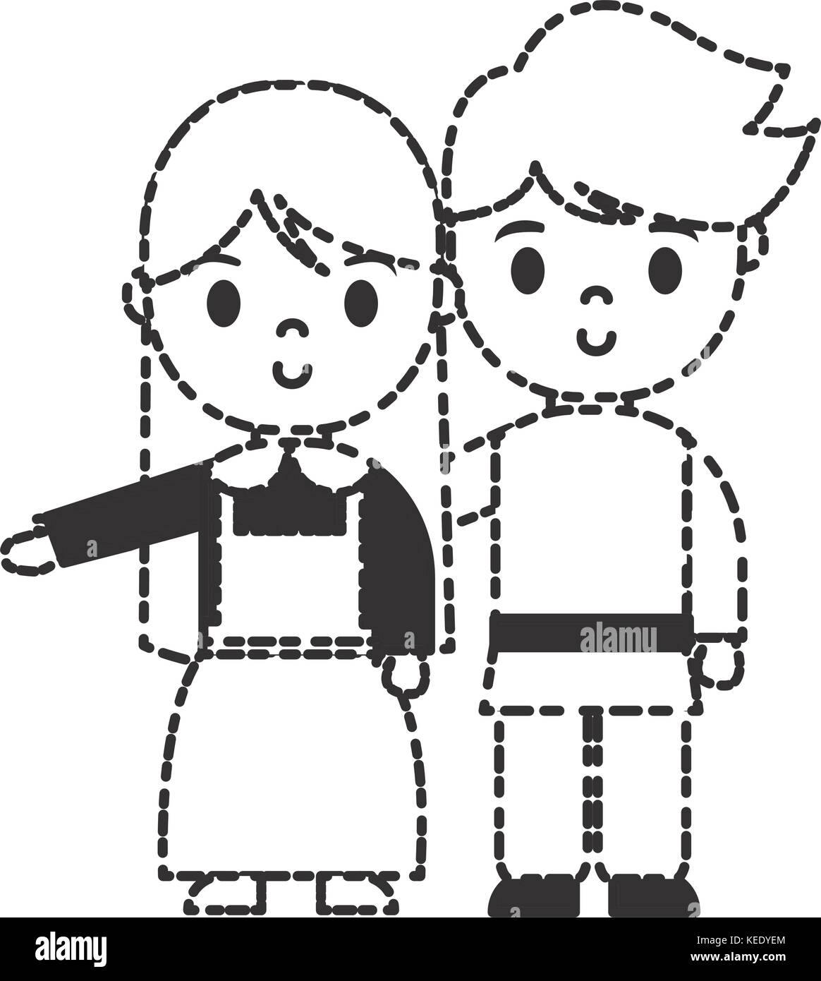 Pilgrim Couple Cut Out Stock Images Pictures Alamy
