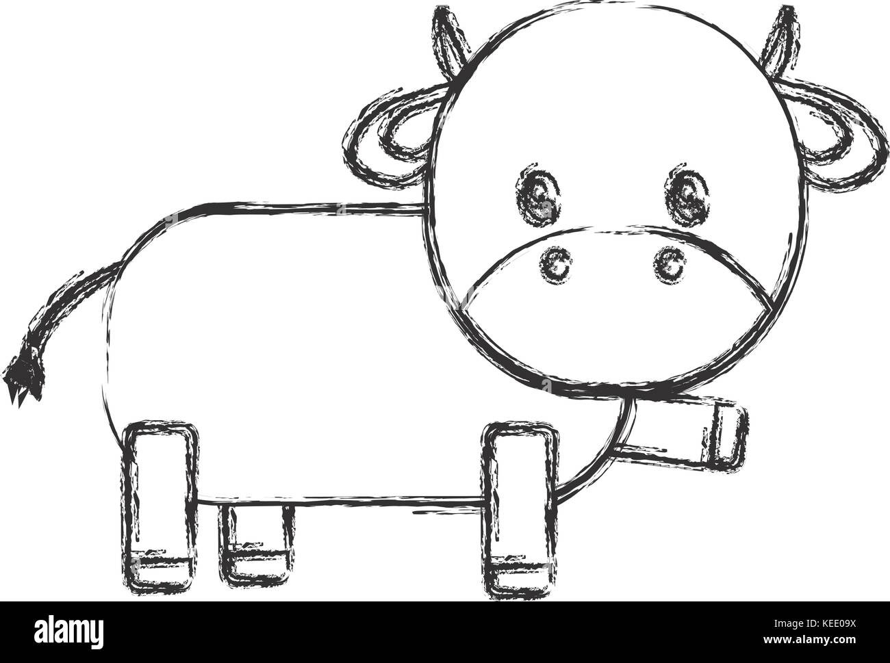 Cartoon Cow Black And White Stock Photos Images