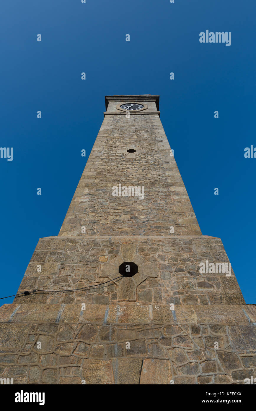 Galle clock tower in Galle, Sri Lanka - Stock Image