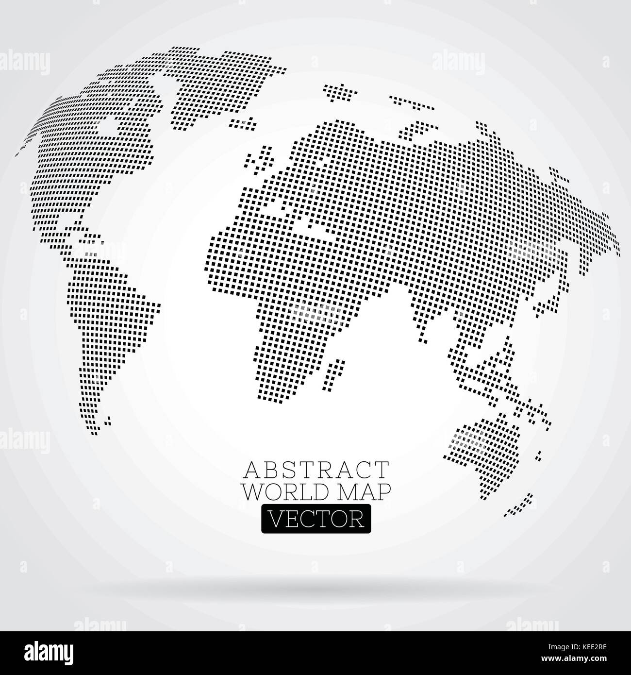 Pixel world map made from small squares stock vector art pixel world map made from small squares gumiabroncs Image collections