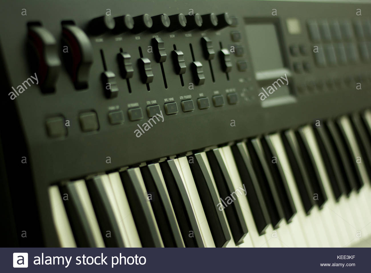 musical keyboard instrument close up composition photography - Stock Image