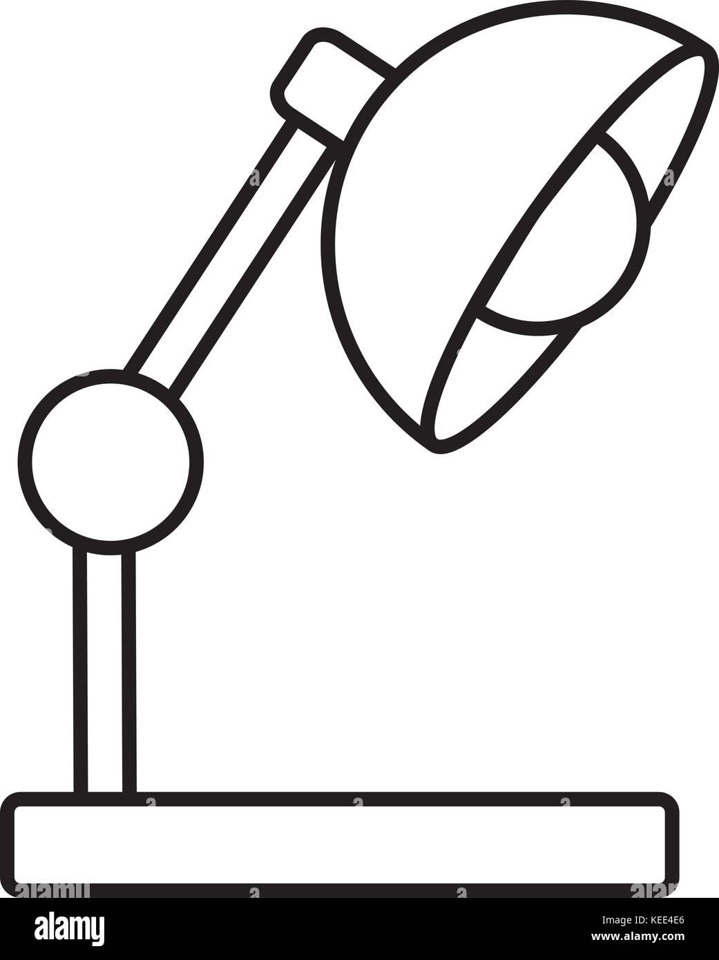 Desk light lamp - Stock Vector