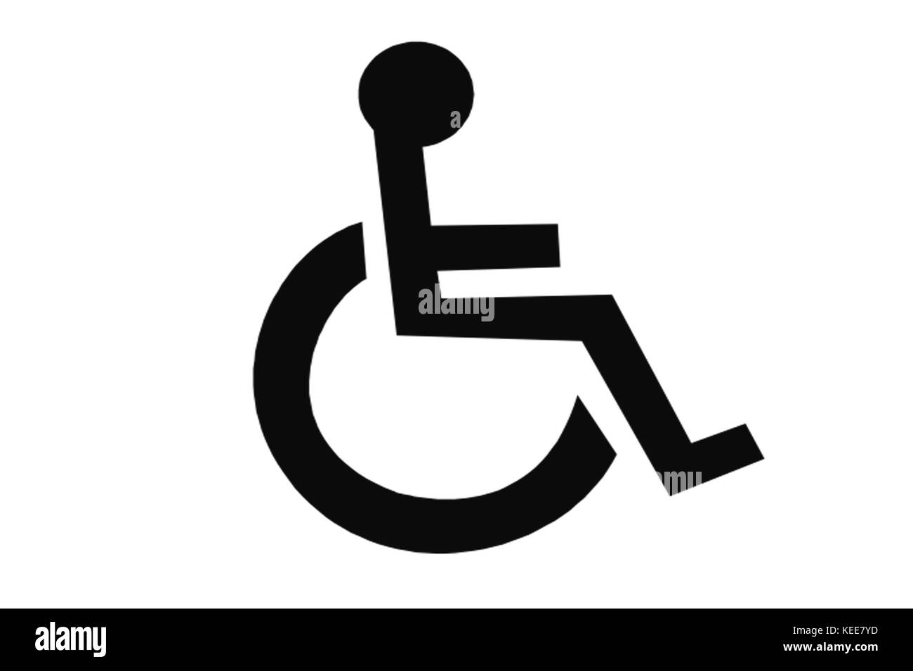 disability disabled person on wheelchair or invalid chair on white background - Stock Image