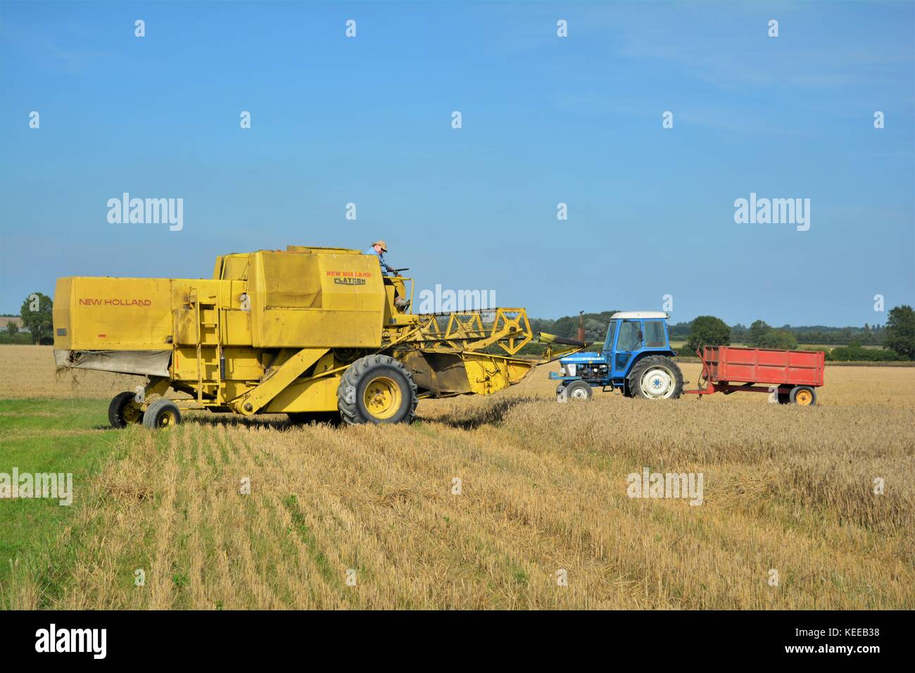 New Holland Combine Harvester Stock Photos & New Holland ...