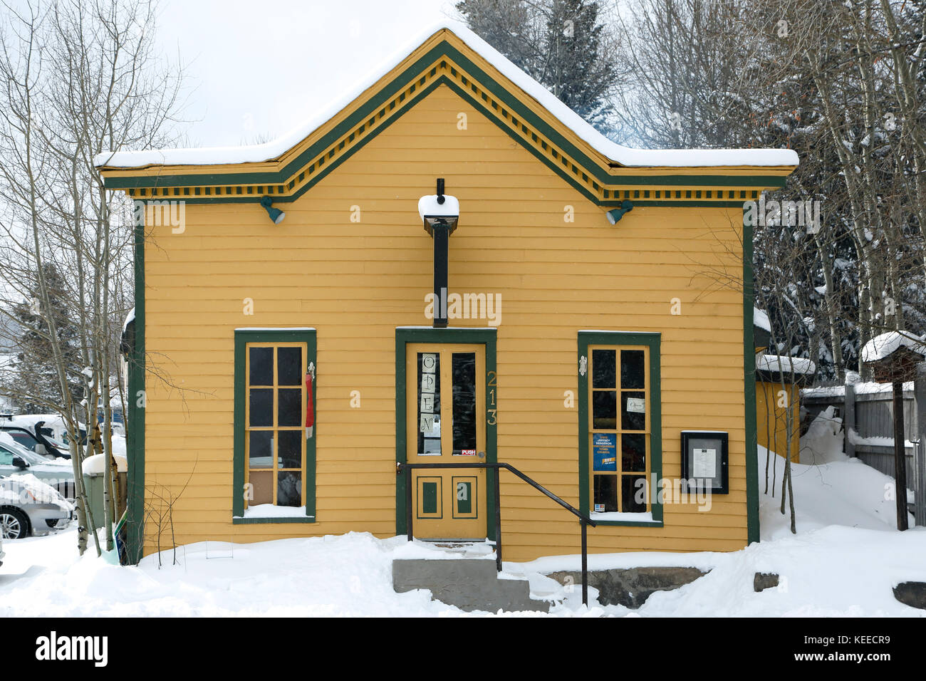 Amazing Grace Natural Eatery (coffee house and bakery), Breckenridge, Colorado USA - Stock Image