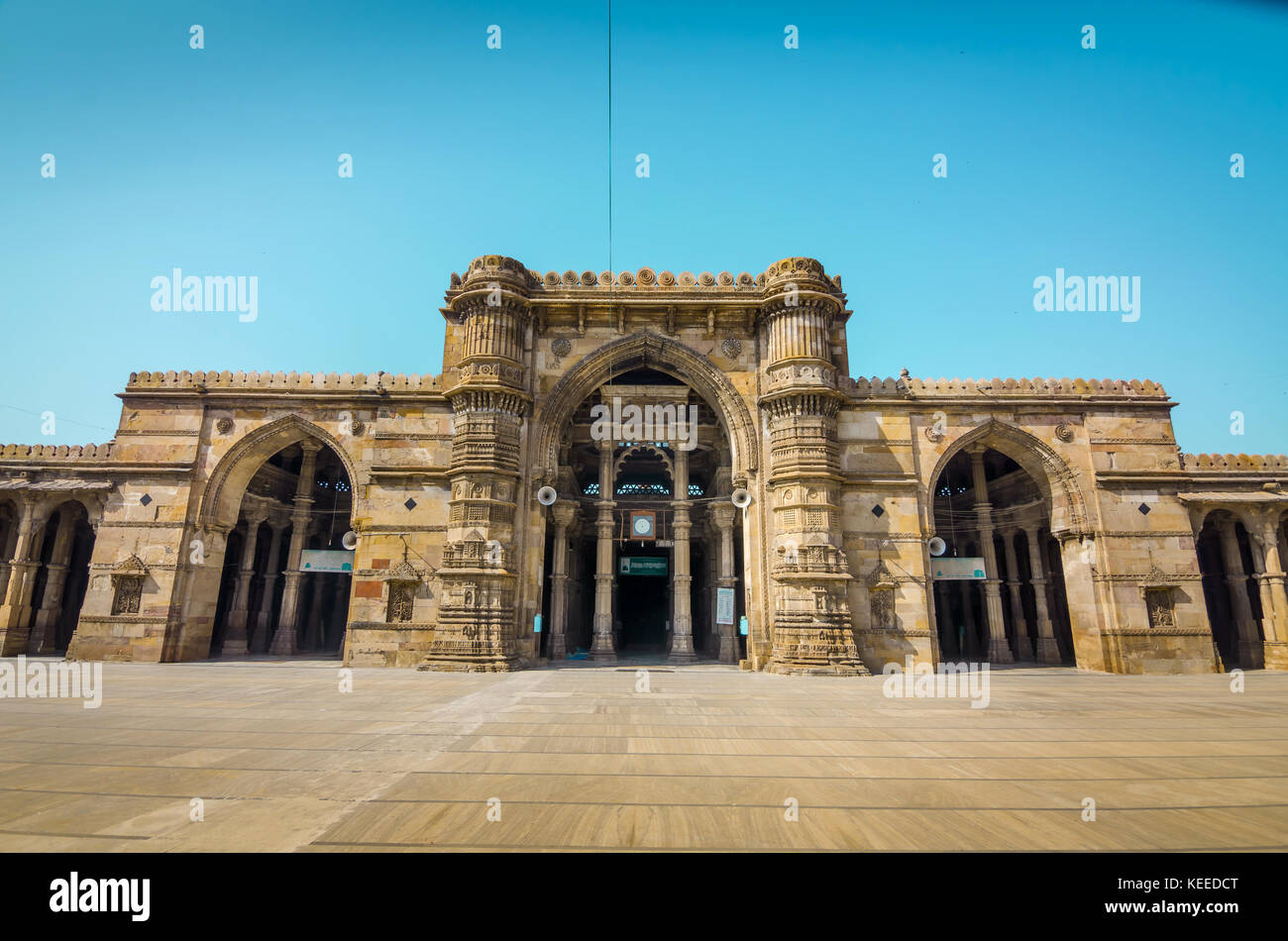 AHMEDABAD, INDIA - NOVEMBER 27, 2016: Jama Mosque or Juma Masjid, an ancient islamic architecture in heritage city - Stock Image