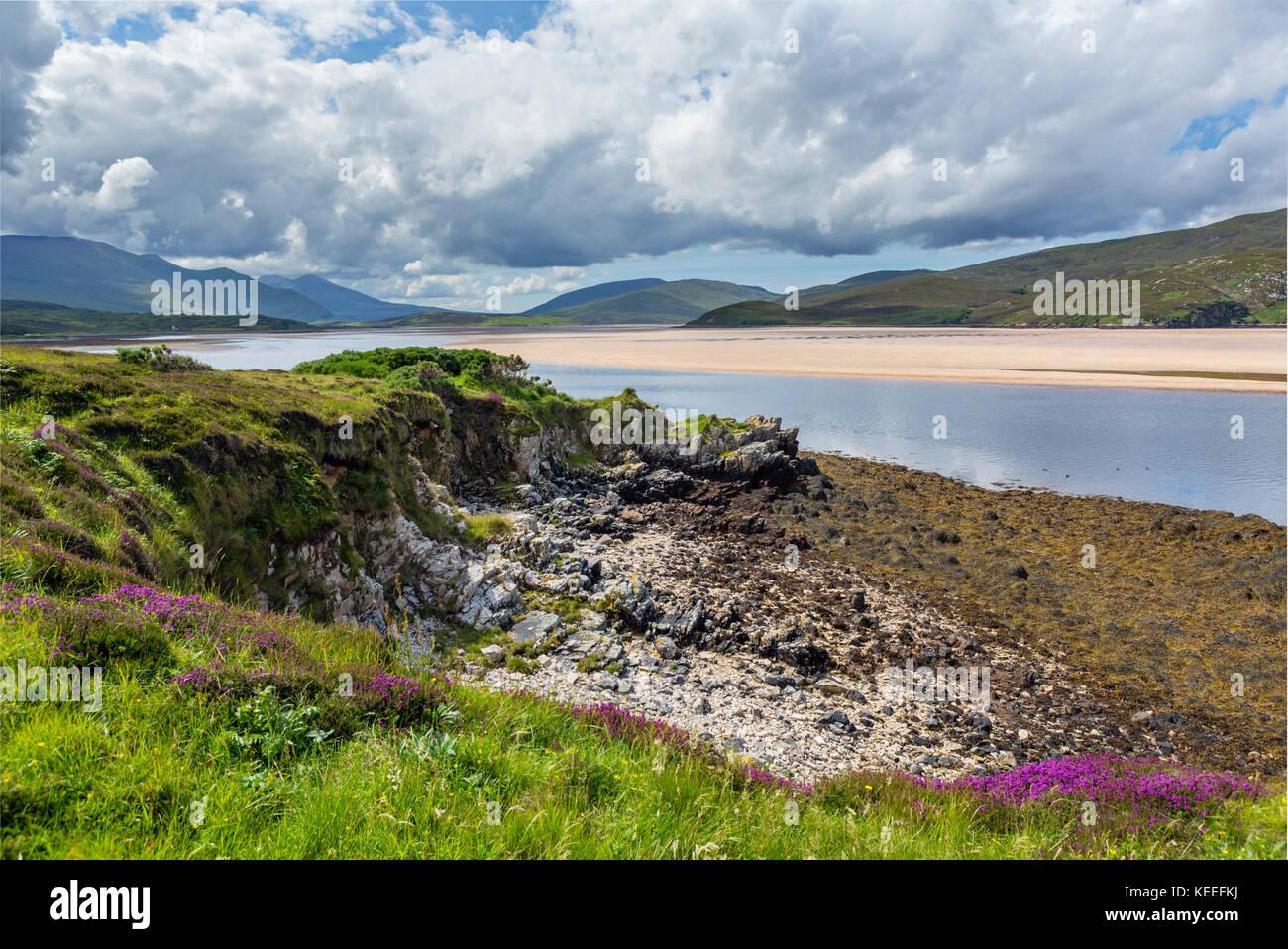 Kyle of Durness, near Keoldale on the North Coast 500, Sutherland, Scottish Highlands, Scotland, UK - Stock Image