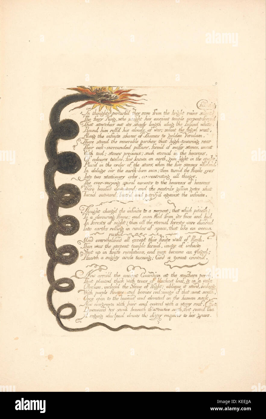 William Blake Europe  A Prophecy, Plate 11, In thoughts