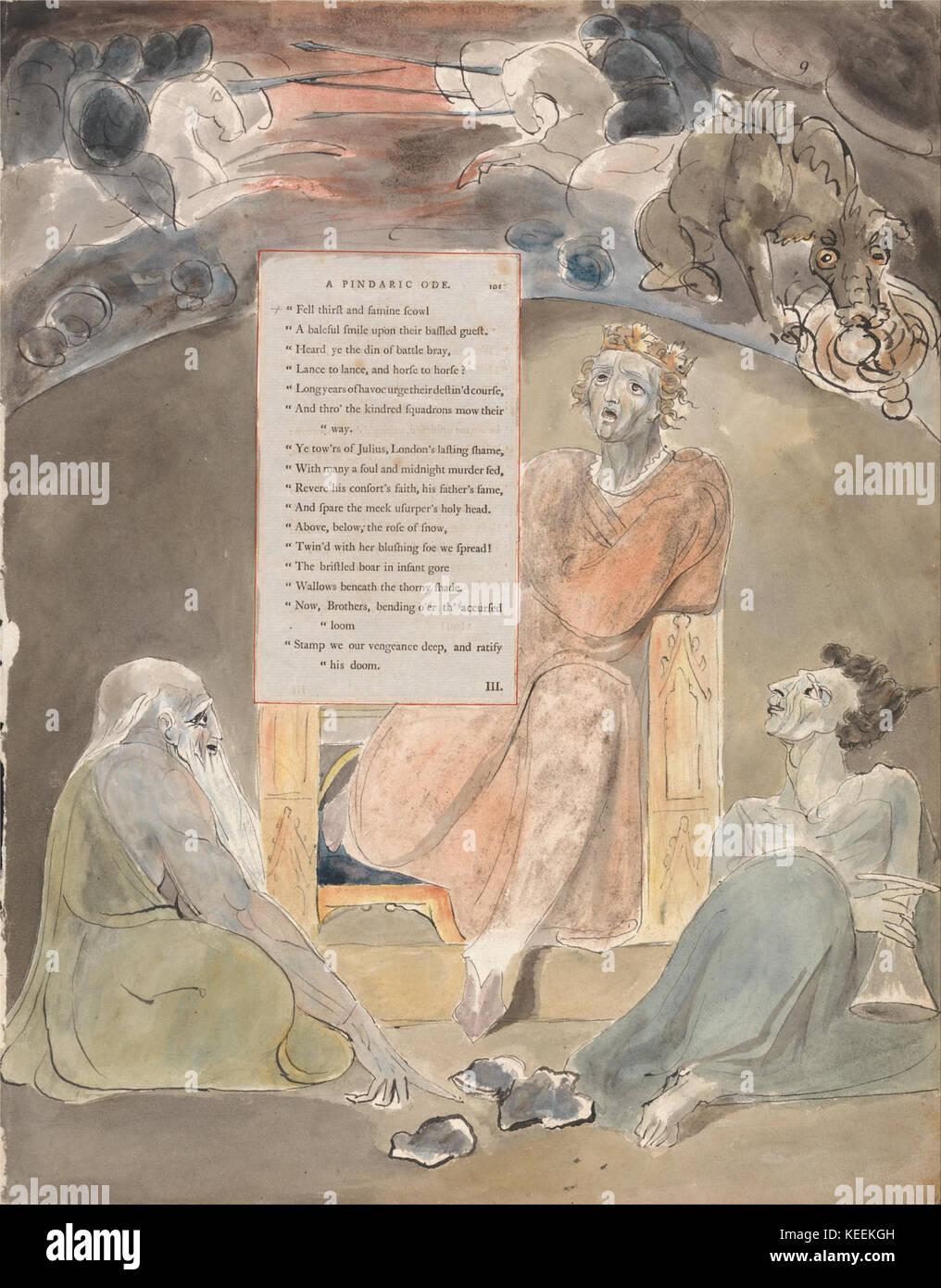 William Blake The Poems Of Thomas Gray Design 61 Bard