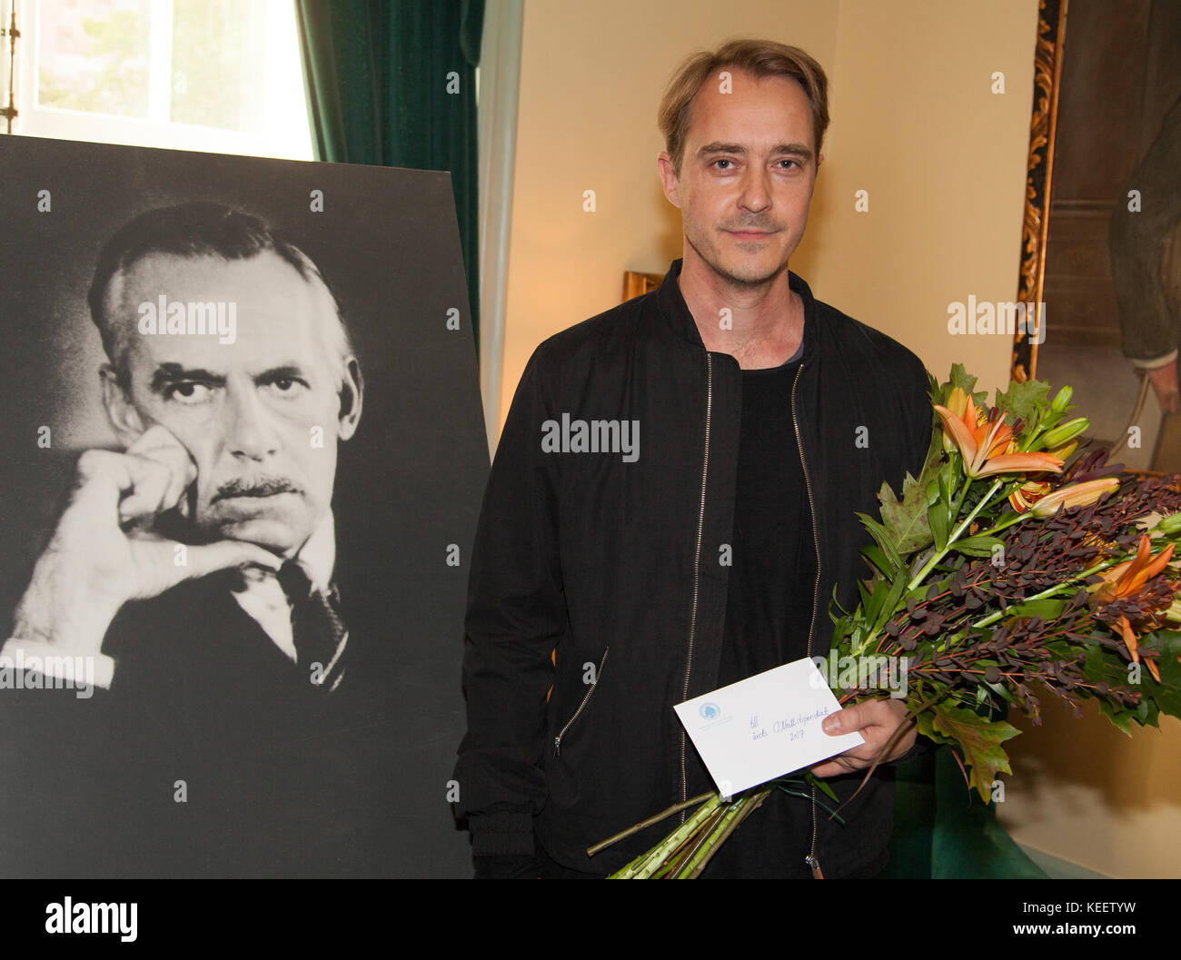 JONAS KARLSSON Swedish actor and writer at Royal Dramatic Theater Stockholm 2017 received the Eugene O´Neill - Stock Image