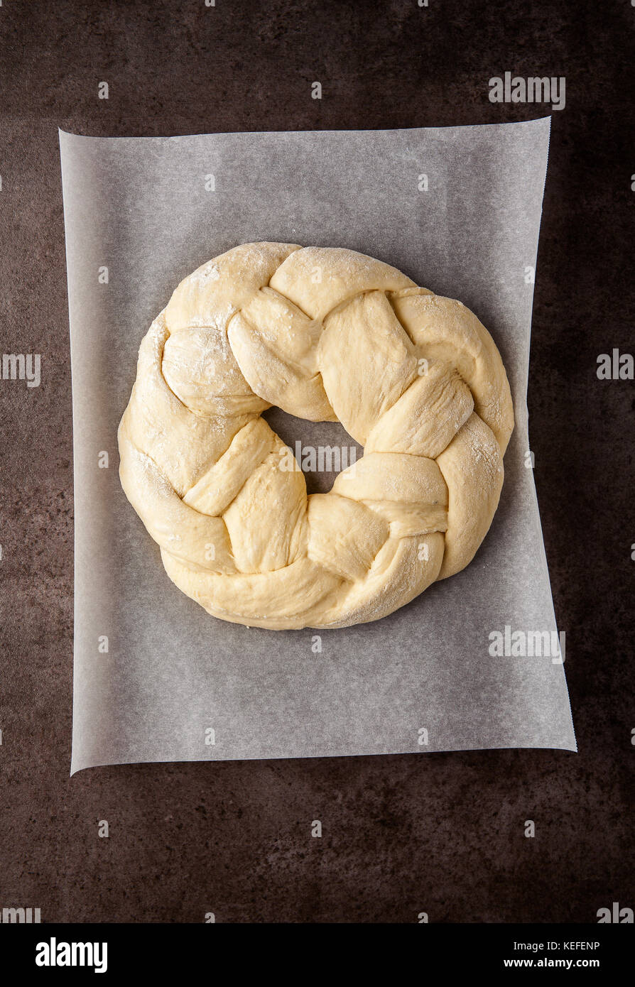 Round Sweet Challah Stock Photos & Round Sweet Challah Stock