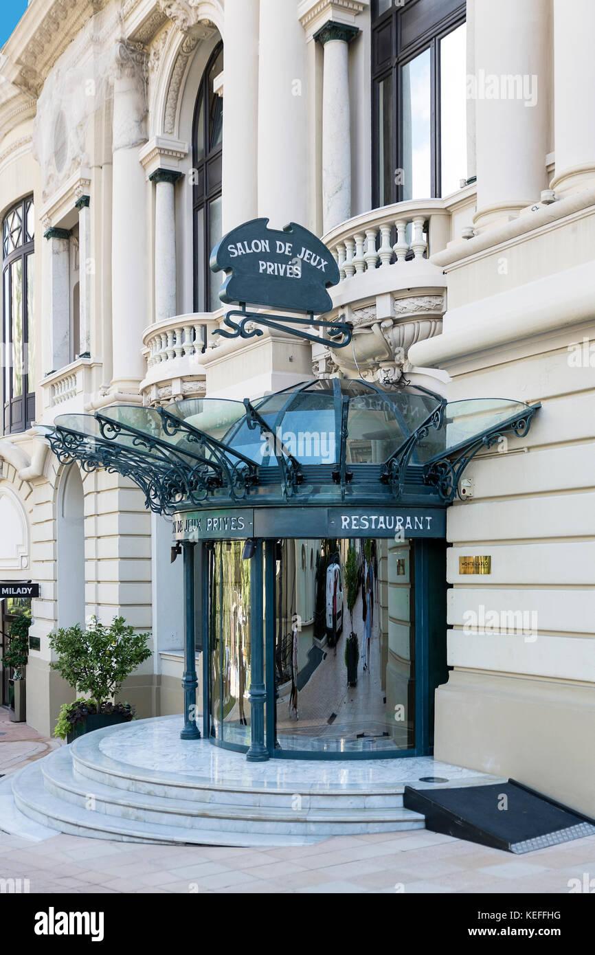 Private VIP entrance to the Casino of Monte Carlo, Monaco. - Stock Image