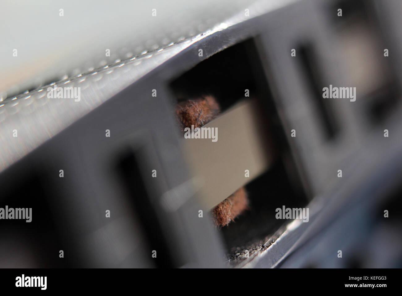 Audio tape cassette, close-up - Stock Image