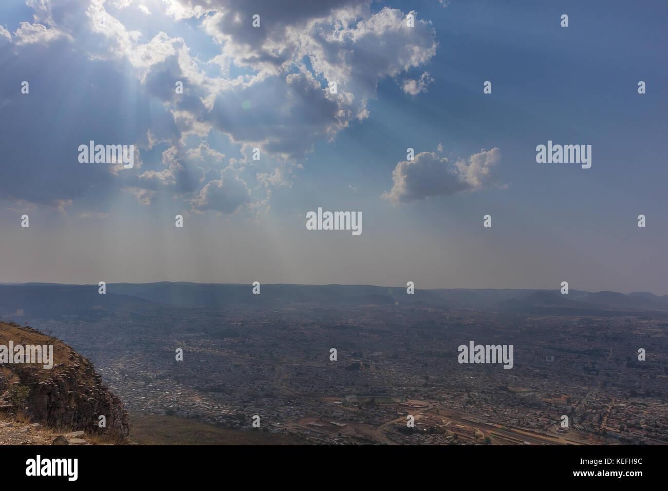 View to the city of Lubango. Angola. - Stock Image