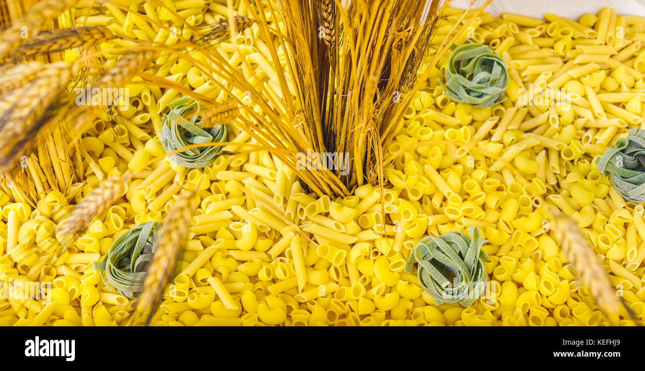 pasta ear of corn web site background header texture - Stock Image
