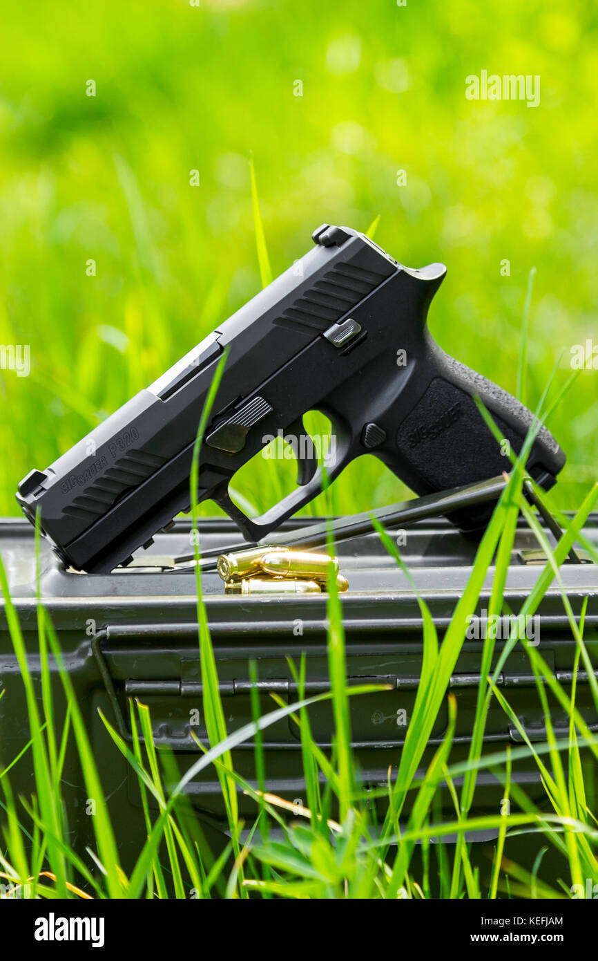 Pistol SIG SAUER P320 Compact 9mm - Stock Image