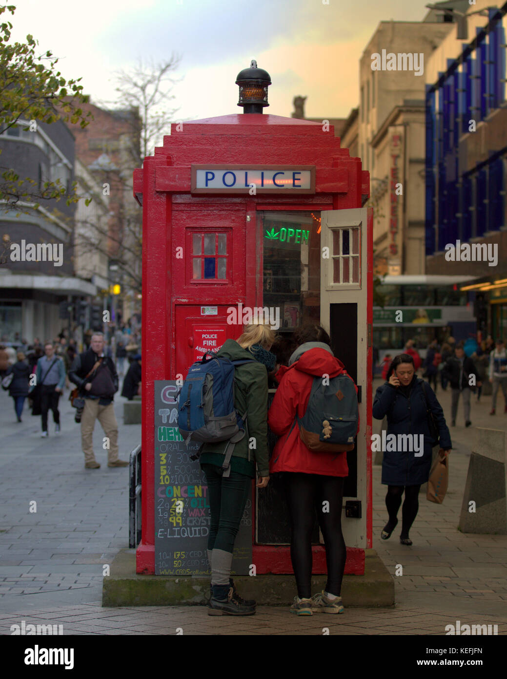 tourists buy legal highs from doctor who style tardis stall outlet