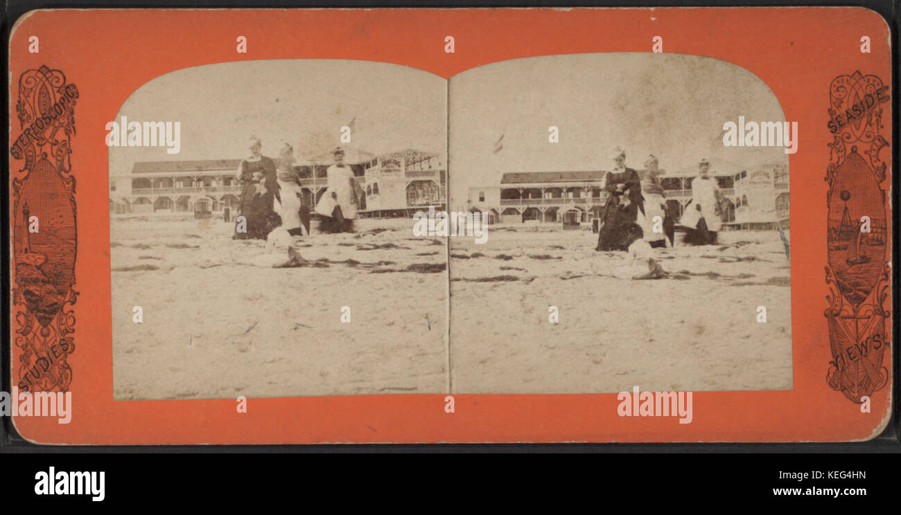 Feltman's Hotel. (West Brighton Beach, Coney Island), from Robert N. Dennis collection of stereoscopic views Stock Photo