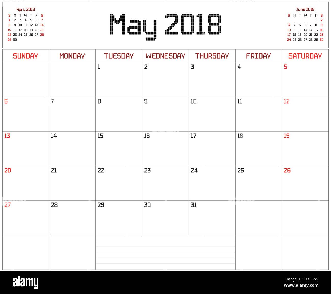 Calendar Planner For May : Year may planner a monthly calendar for