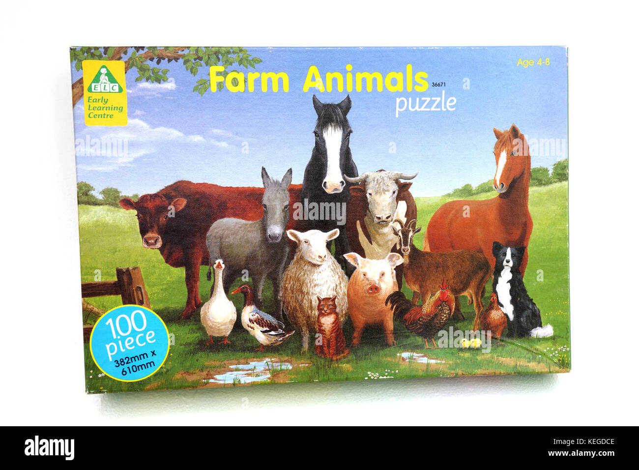 Early Learning Centre Farm Animals Jigsaw Puzzle - Stock Image