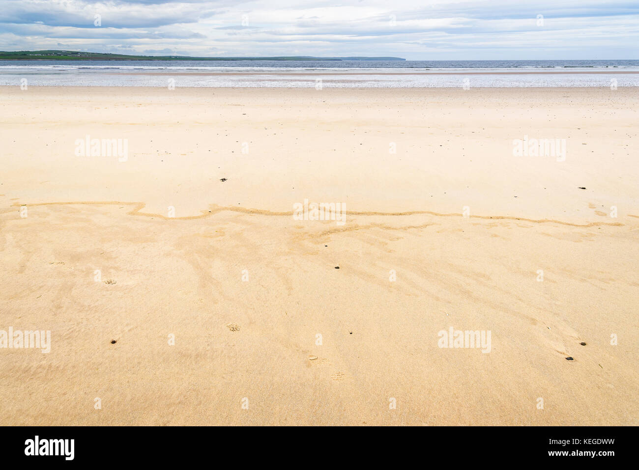 dunnet beach seascapes - Stock Image