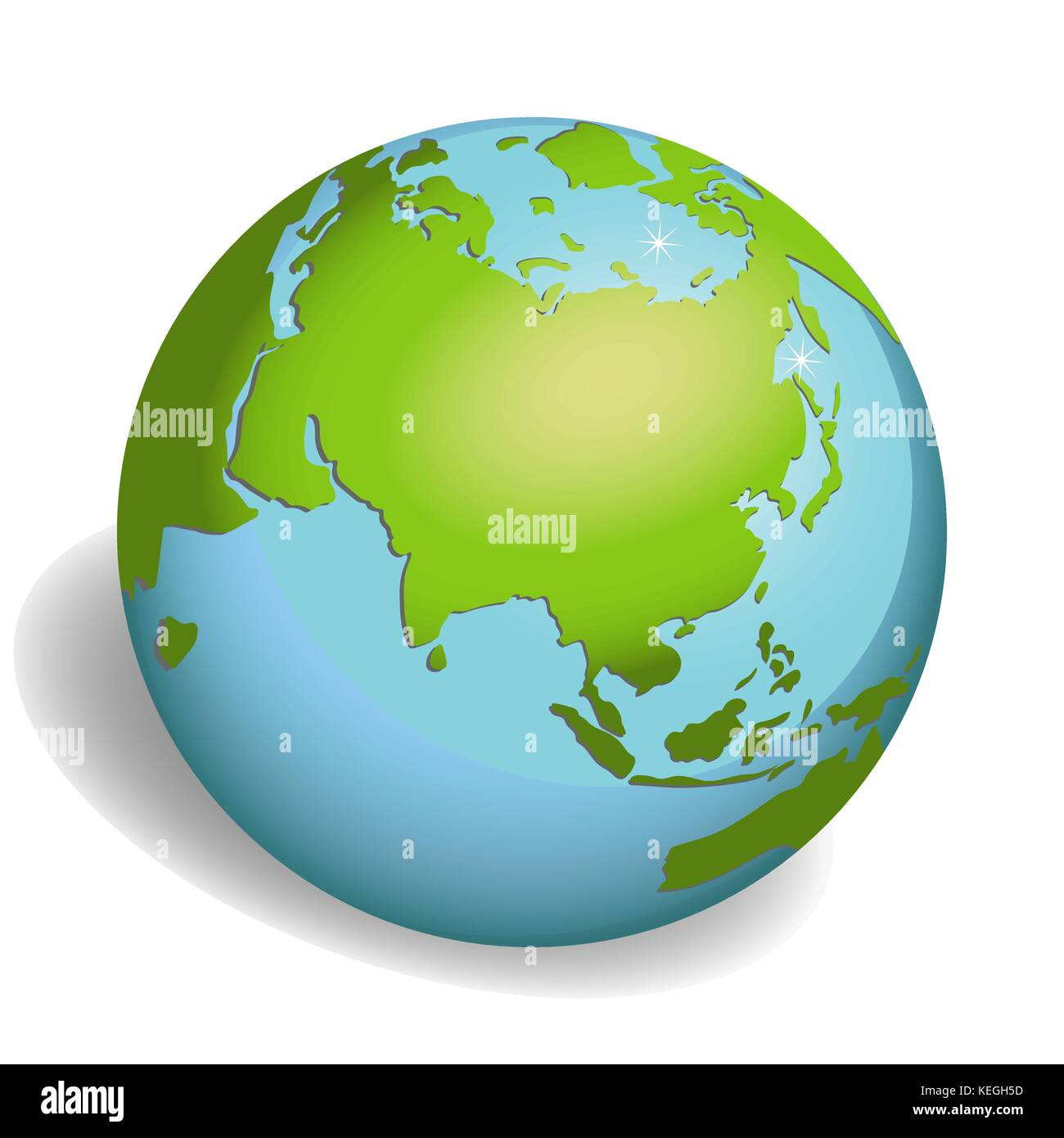 Earth globes isolated on white background - Stock Image