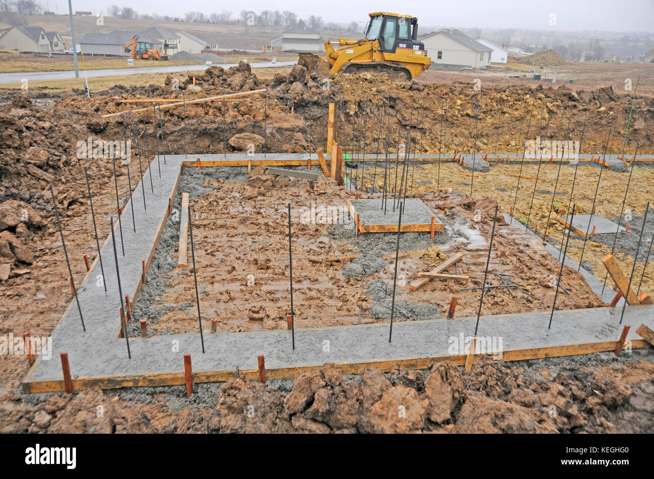 Foundation Footing Being Built For A House Series 1 Stock Photo Alamy