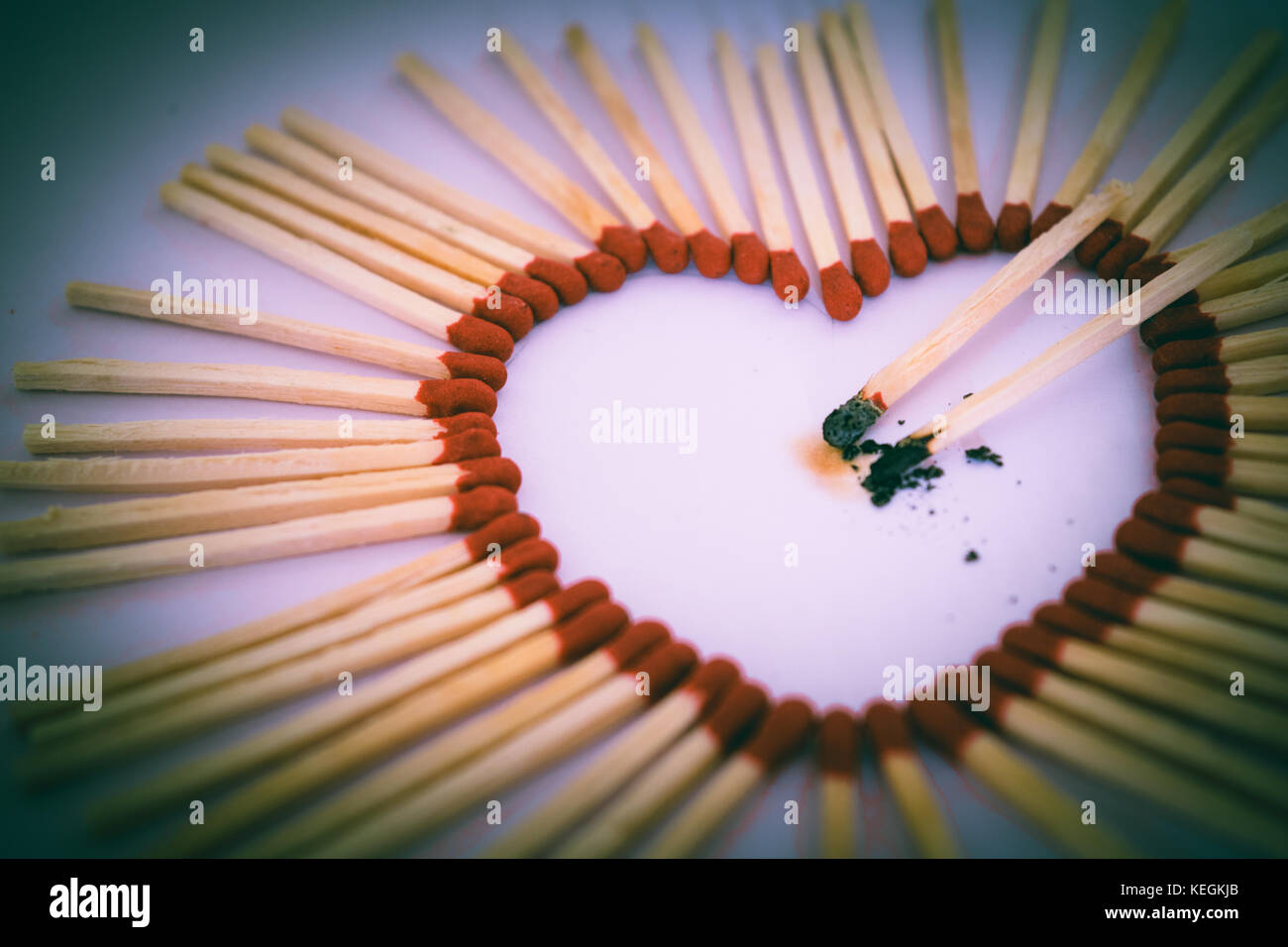 Heart On Fire - Stock Image