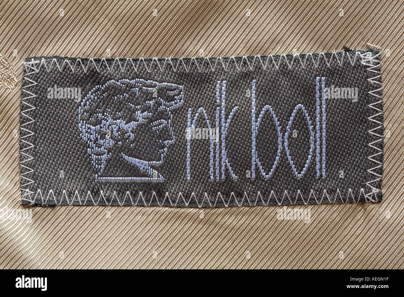 Nik Boll label in mans clothing - Stock Image