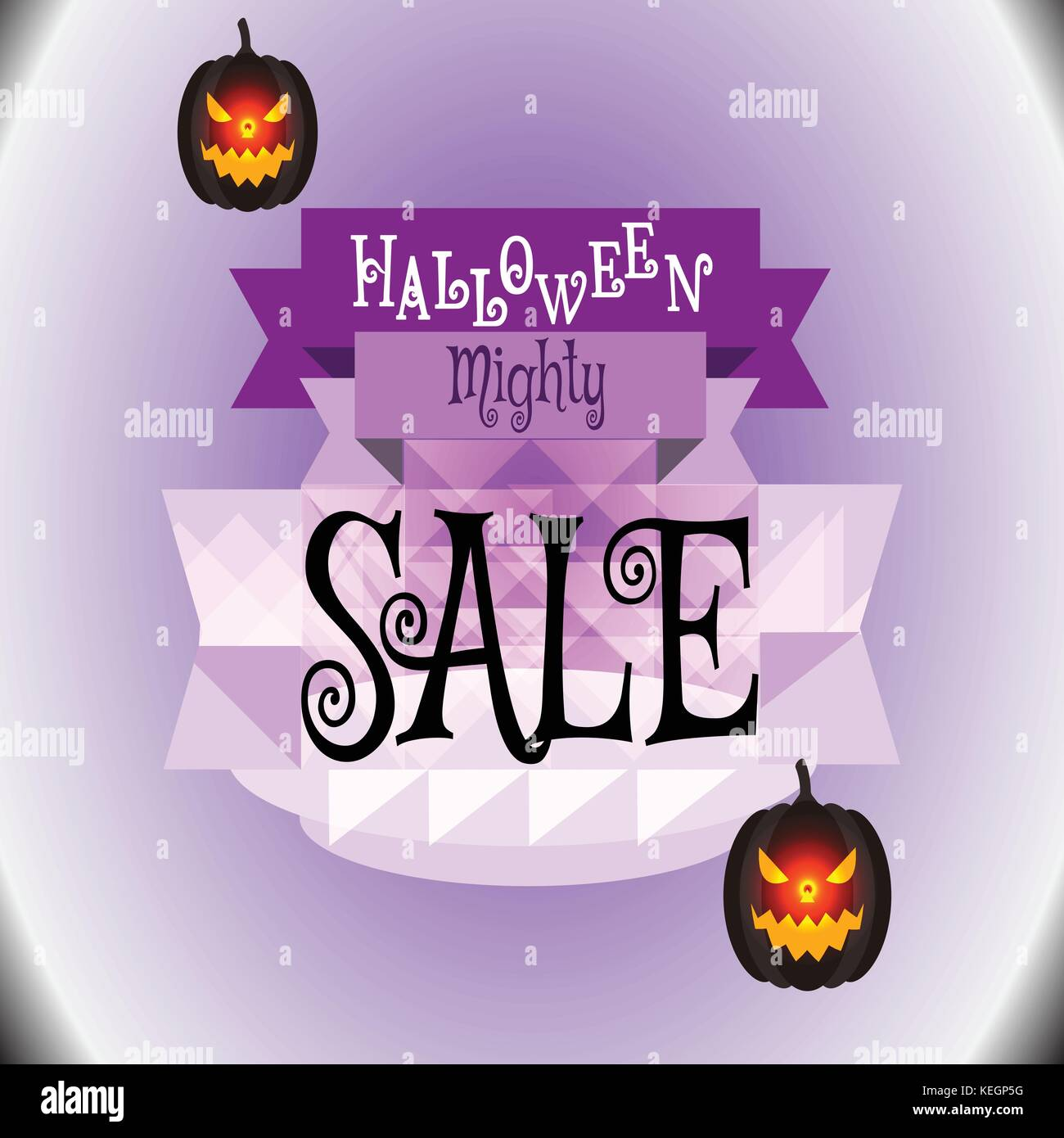 Halloween Sale Vector for background,backdrop,posters,printing,wallpaper,illustration or other kinds of media presentation. - Stock Image