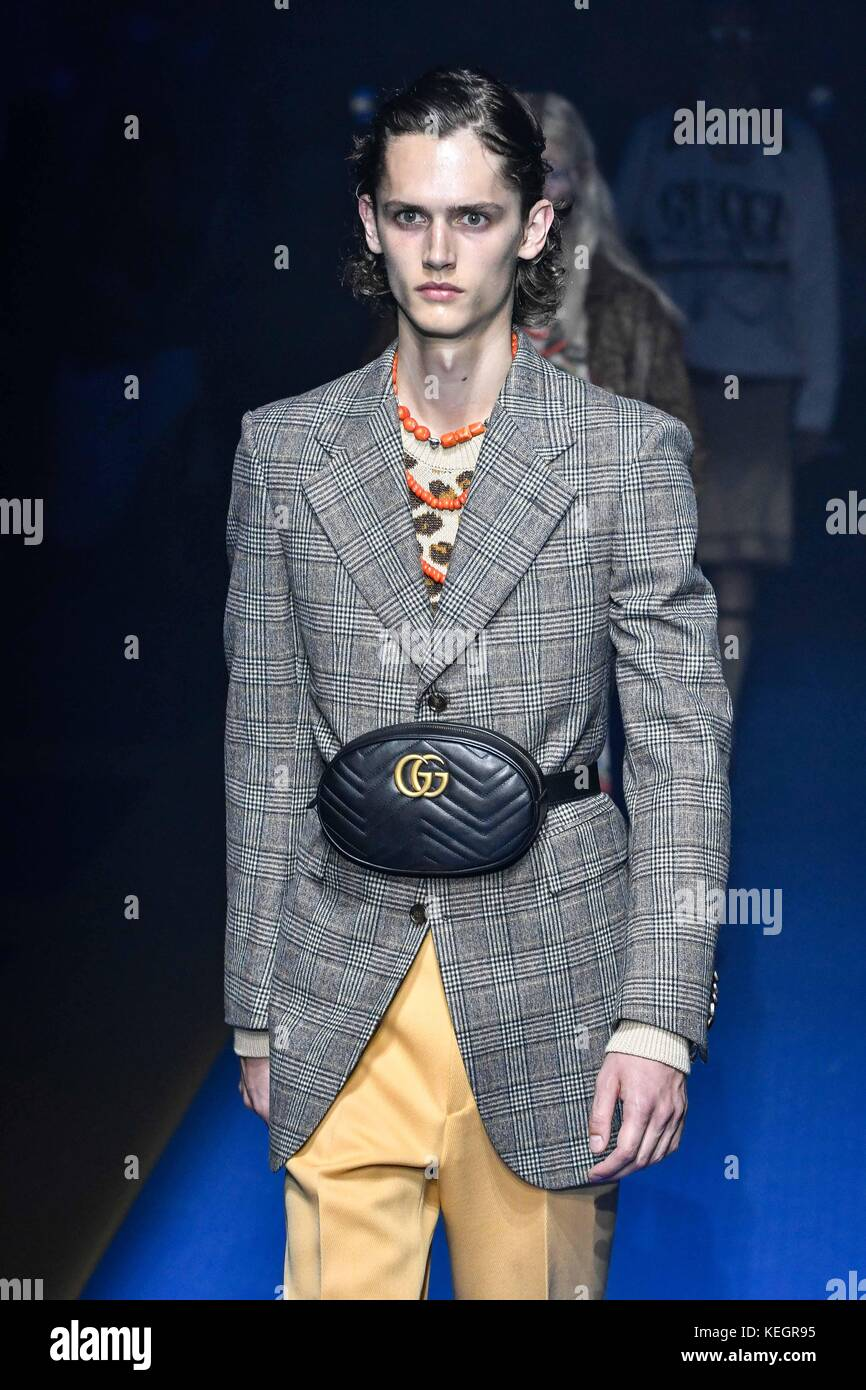 58043d12fbb Milan Fashion Week Spring/Summer 2018 - Gucci - Catwalk Featuring: Model  Where: Milan, Italy When: 20 Sep 2017 Credit: IPA/WENN.com **Only available  for ...