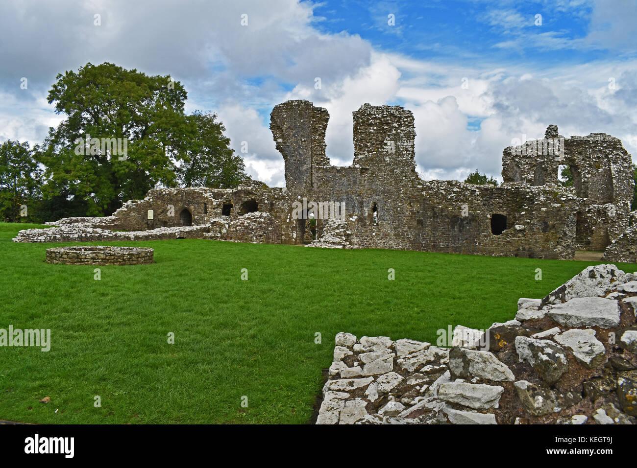 Llansteffan Castle - Stock Image