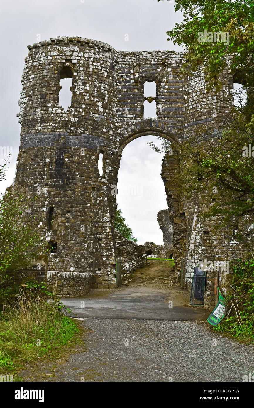 Llawhaden Castle - Stock Image